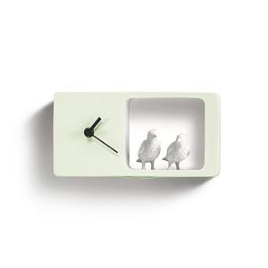 Часы Воробьи (салатовый)