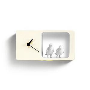 Часы Воробьи (жёлтый)