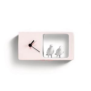Часы Воробьи (розовый)