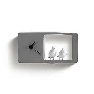Часы Воробьи (тёмно-серый)