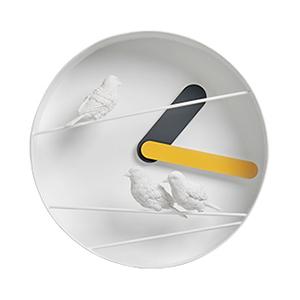 Птицы на проводах (желтый)→