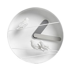 Птицы на проводах (серый)→